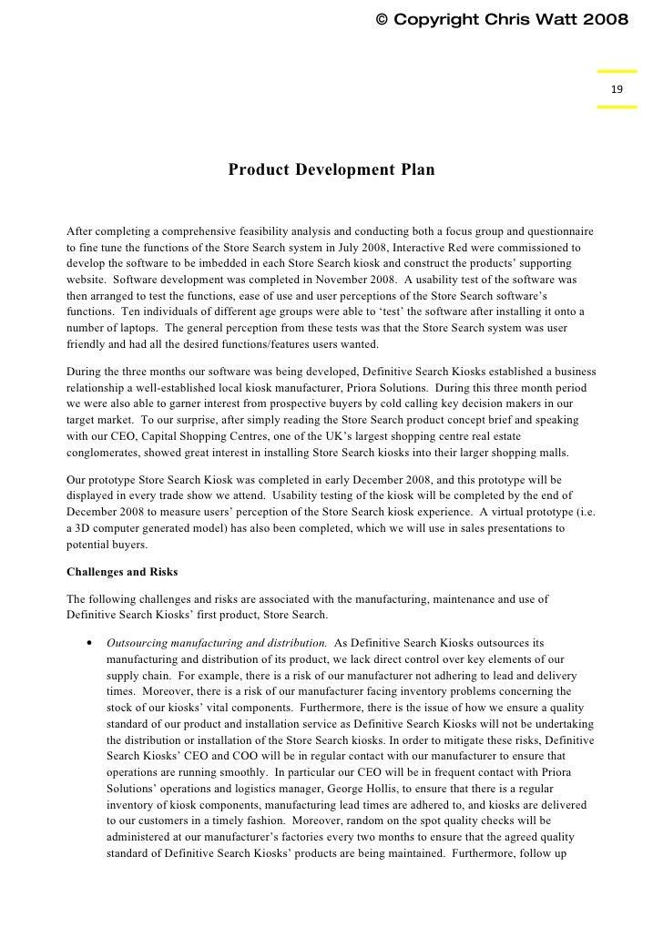 mock business plan