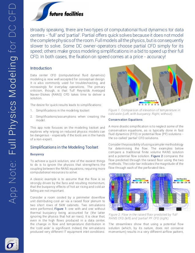 App Note Full Physics Modeling for Data Center CFD Simulation