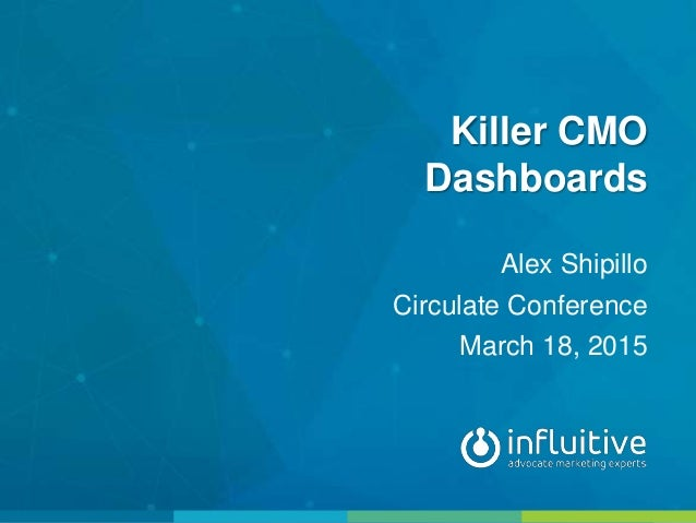 Killer CMO Dashboards Alex Shipillo Circulate Conference March 18, 2015