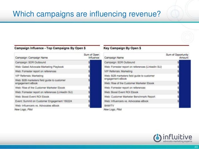 23 Which campaigns are influencing revenue?
