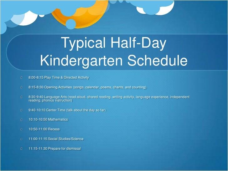 half day preschool schedule day kindergarten 732