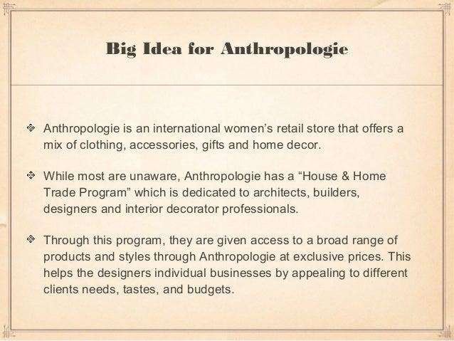 Anthropologie: Full Digital Strategy Slide 2
