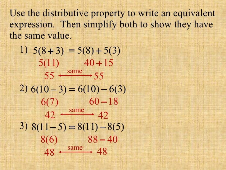 Simplifying Using the Distributive Property Lesson