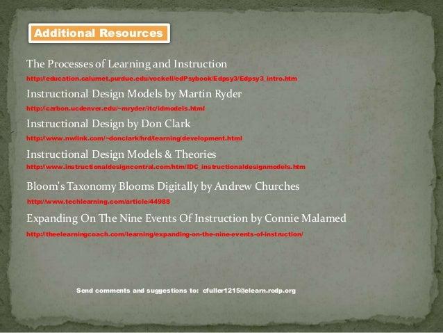 http://www.instructionaldesigncentral.com/htm/IDC_instructionaldesignmodels.htm http://www.nwlink.com/~donclark/hrd/learni...