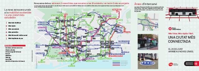 Nova xarxa de bus PARC DE LA CIUTADELLA PARC DIAGONAL MAR FÒRUM CEMENTIRI DEL SUD-OEST UPC CAMPUS NORD UPC CAMPUS SUD ESTA...