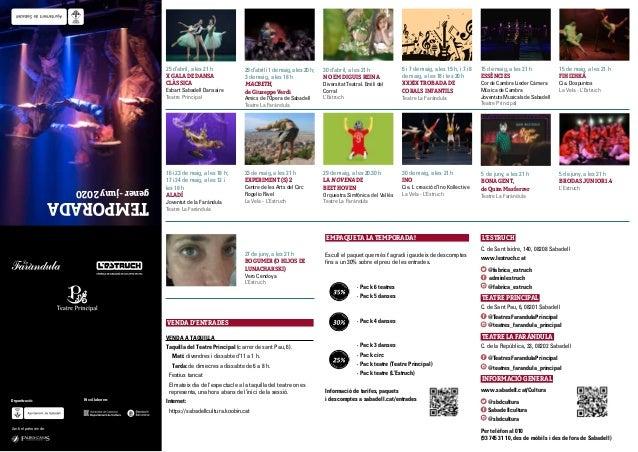 29 d'abril i 1 de maig, a les 20 h; 3 de maig, a les 18 h MACBETH, de Giuseppe Verdi Amics de l'Òpera de Sabadell Teatre L...