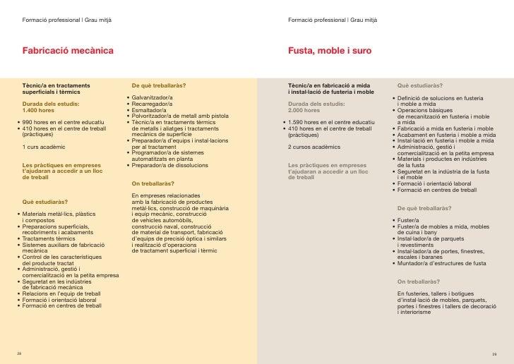Formació professional | Grau mitjà                                                   Formació professional | Grau mitjà   ...