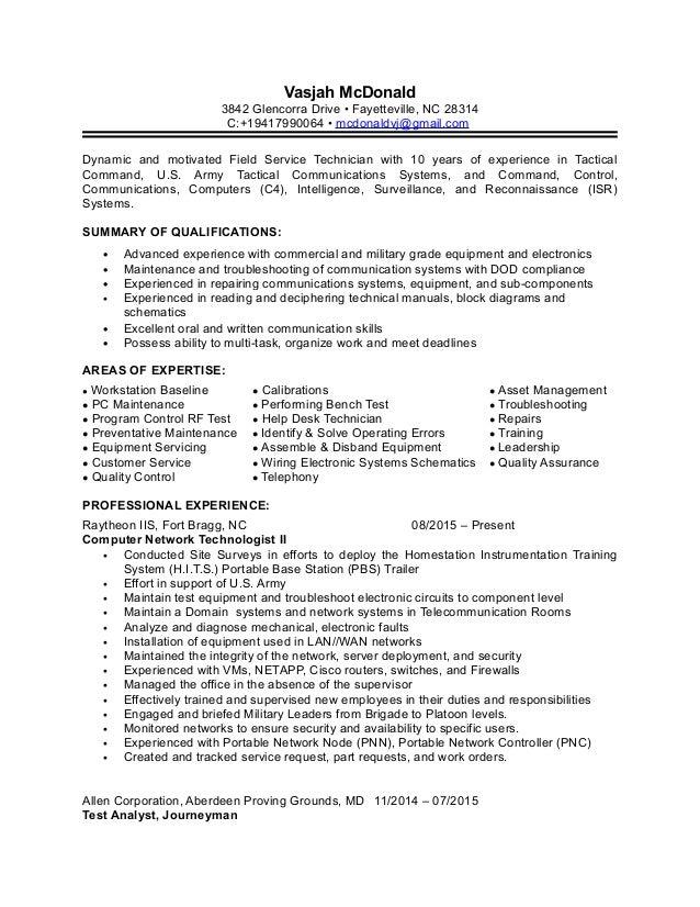 full experience resume