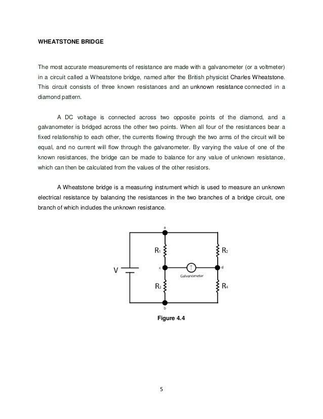 wheatstone bridge experiment procedure