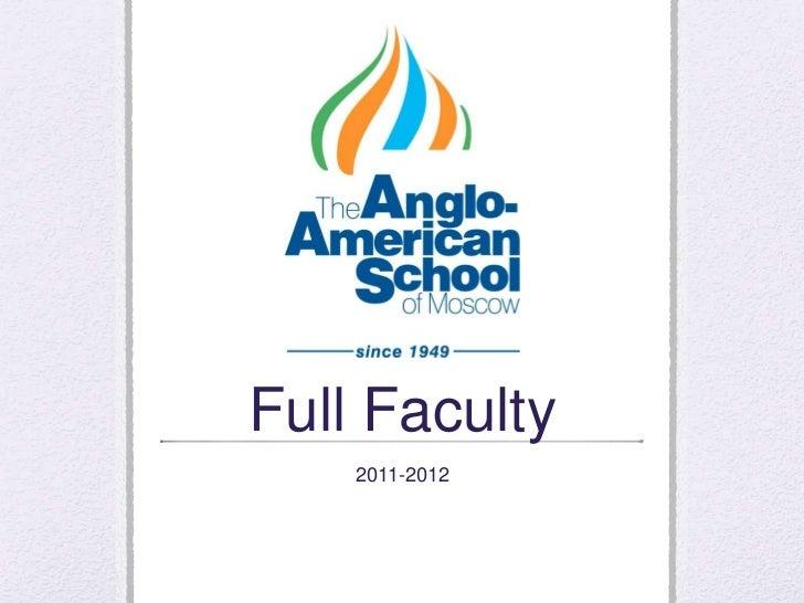 Full Faculty<br />2011-2012<br />