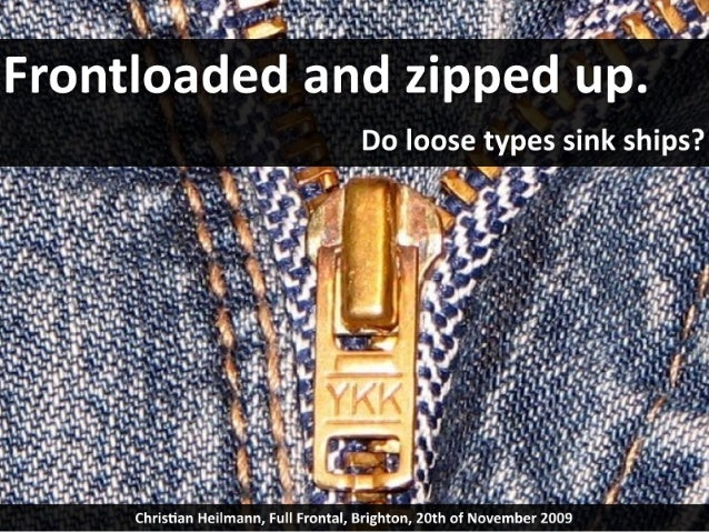 Frontloaded and zipped up - the full frontal keynote
