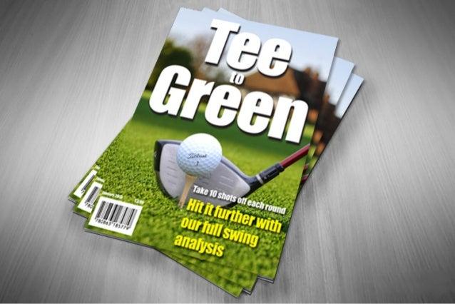Full golf magazine spread