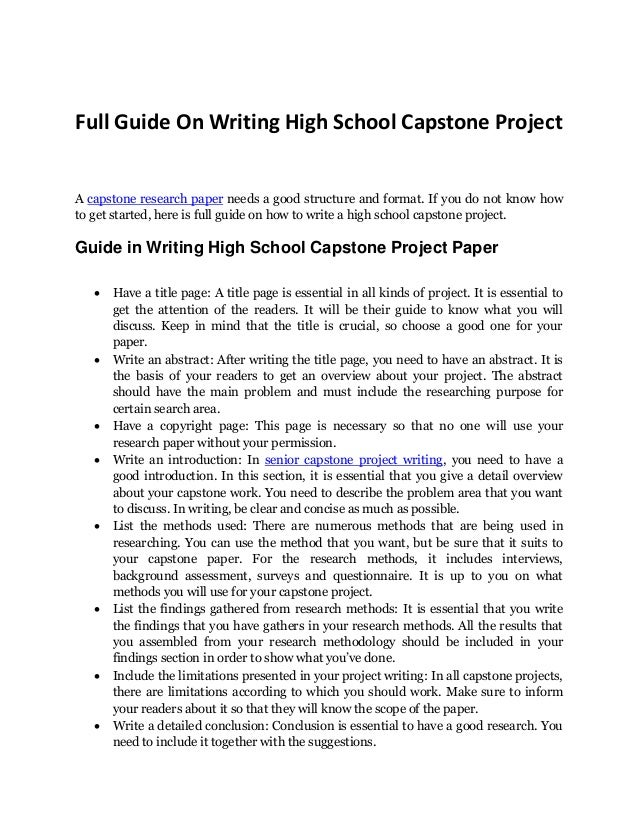 How to write a high school paper