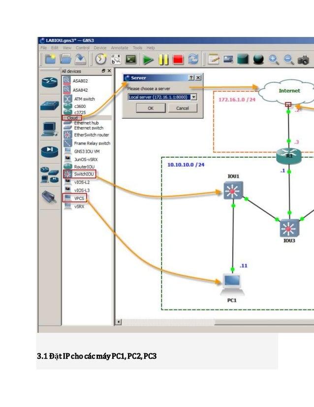 Full hướng dẫn cấu hình gns3 1 1