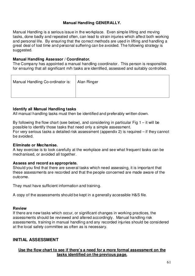 full hs policy rh slideshare net manual handling policy sample manual handling policy and procedure victoria