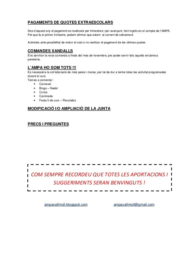 Full informatiu ampa inici de curs   pressupost 99 Slide 2