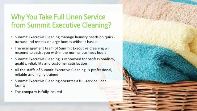 Full Linen Services in Summit County Slide 2