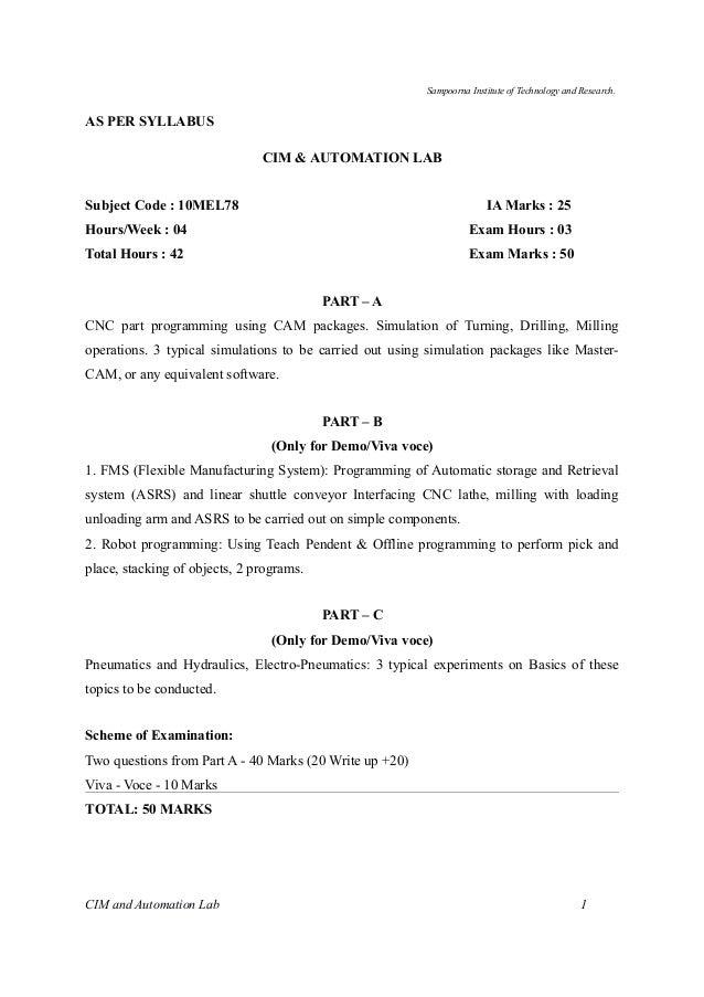 cim automation lab manual vtu rh slideshare net Linear Programming Robotics Lab