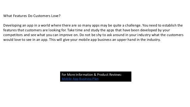 mobile app business plan pdf