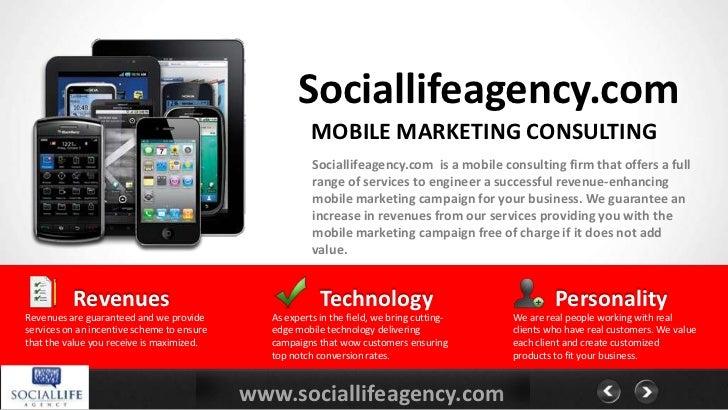 Sociallifeagency.com                                                       MOBILE MARKETING CONSULTING                    ...