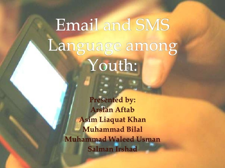 Email And Sms Language Among Youth
