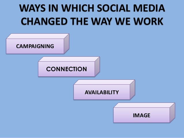 social media changed communication