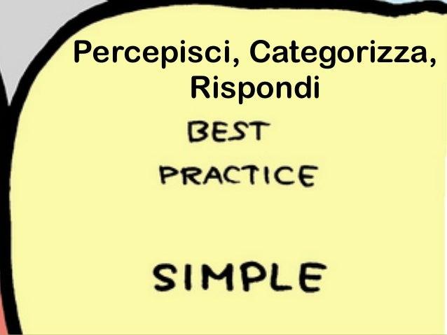Percepisci, Analizza, Rispondi
