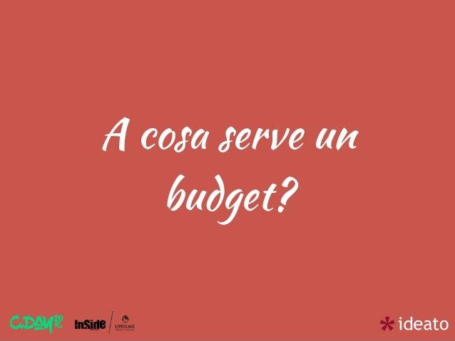 A cosa serve un budget?