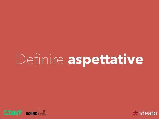 Definire aspettative