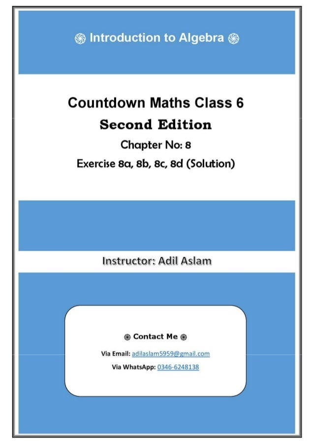 Countdown Mathematics Class 6th Second Edition Chapter 8 Solution (In…