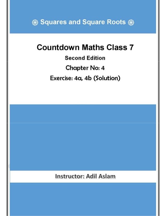 Countdown Mathematics Class 7th Second Edition Chapter 4 Solution