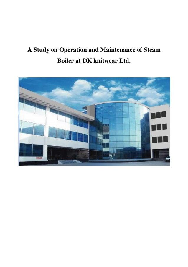practicum report on steam boiler