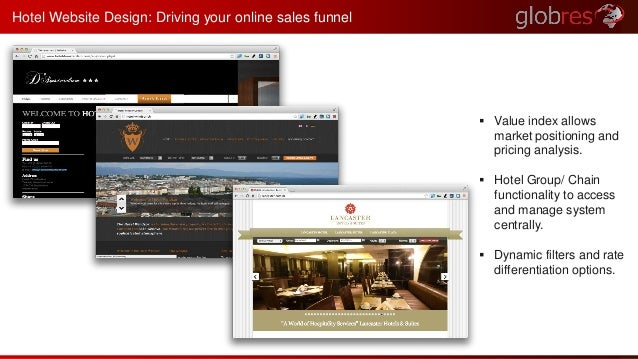 Hotel Website Design: Driving your online sales funnel   Value index allows  market positioning and  pricing analysis.  ...