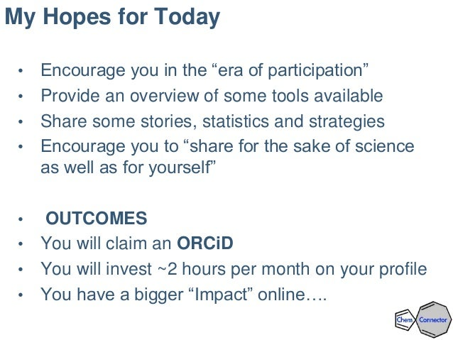 Building an Online Profile:  Social Networking and Amplification Tools for Scientists Slide 3
