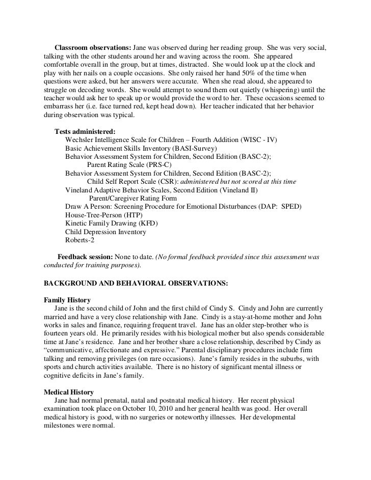 behavior observation report essay example Essays - largest database of quality sample essays and research papers on child behavior observation report.