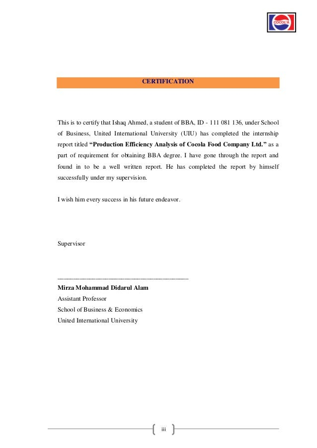 internship report bba It is the requirement for the students of bba and mba program to submit an internship/dissertation report to the university under the supervision of teacher.