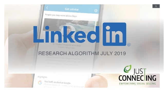 1 RESEARCH ALGORITHM JULY 2019