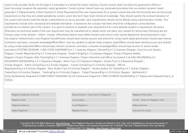 Full UnderGrad Project Report : Tender Timeline Tracker