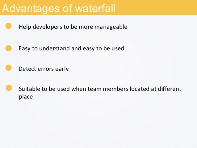 Software development model waterfall rad agile for Advantages and disadvantages of waterfall model