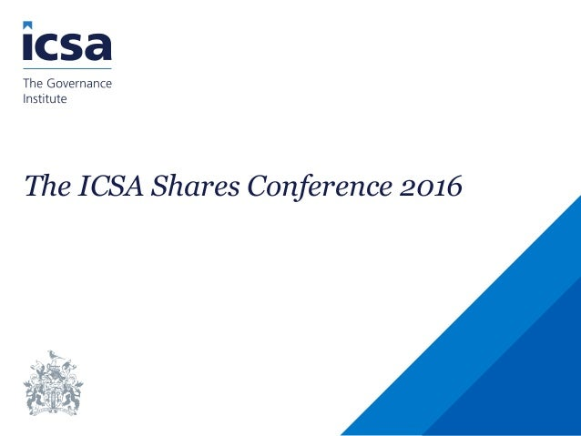 The ICSA Shares Conference 2016