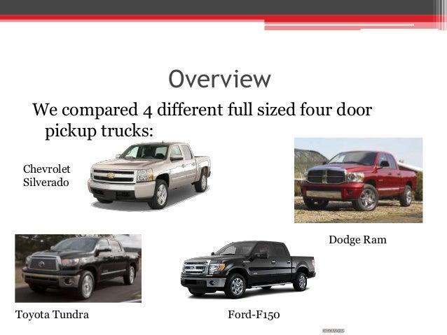 Full size four door pickup trucks
