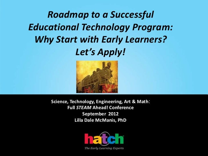 Roadmap to a SuccessfulEducational Technology Program: Why Start with Early Learners?          Let's Apply!    Science, Te...