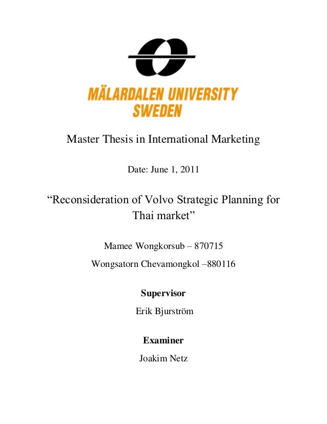 Master marketing thesis
