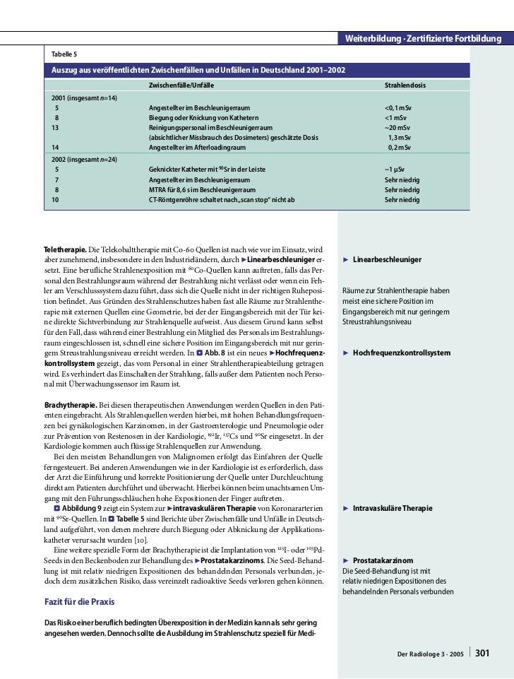 Weiterbildung · Zertifizierte Fortbildung  Tabelle 5  Auszug aus veröffentlichten Zwischenfällen und Unfällen in Deutschla...