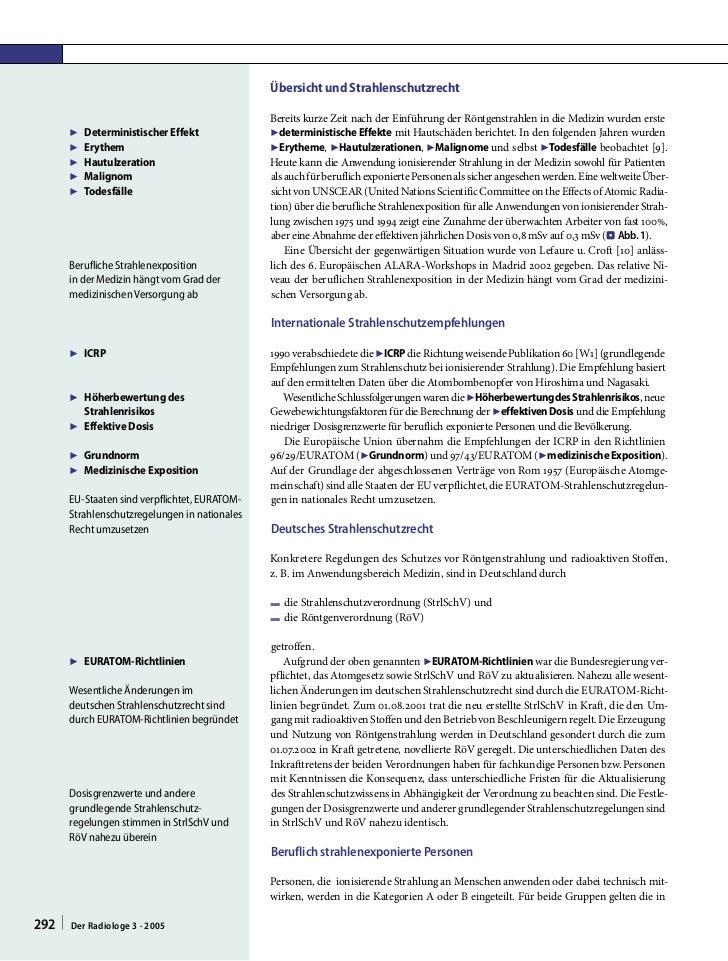 Übersicht und Strahlenschutzrecht                                                 Bereits kurze Zeit nach der Einführung d...