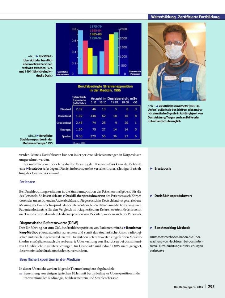Weiterbildung · Zertifizierte Fortbildung      Abb. 1 7 UNSCEAR-   Übersicht der beruflich  überwachten Personen  weltweit...