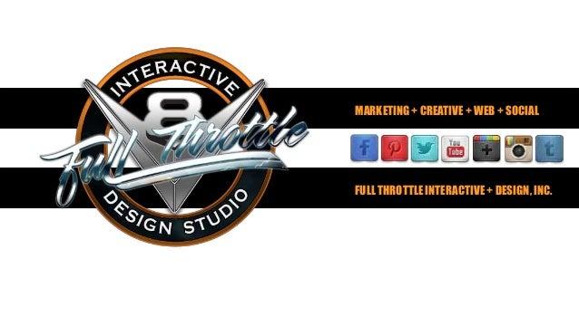 MARKETING + CREATIVE + WEB + SOCIALFULL THROTTLE INTERACTIVE + DESIGN, INC.