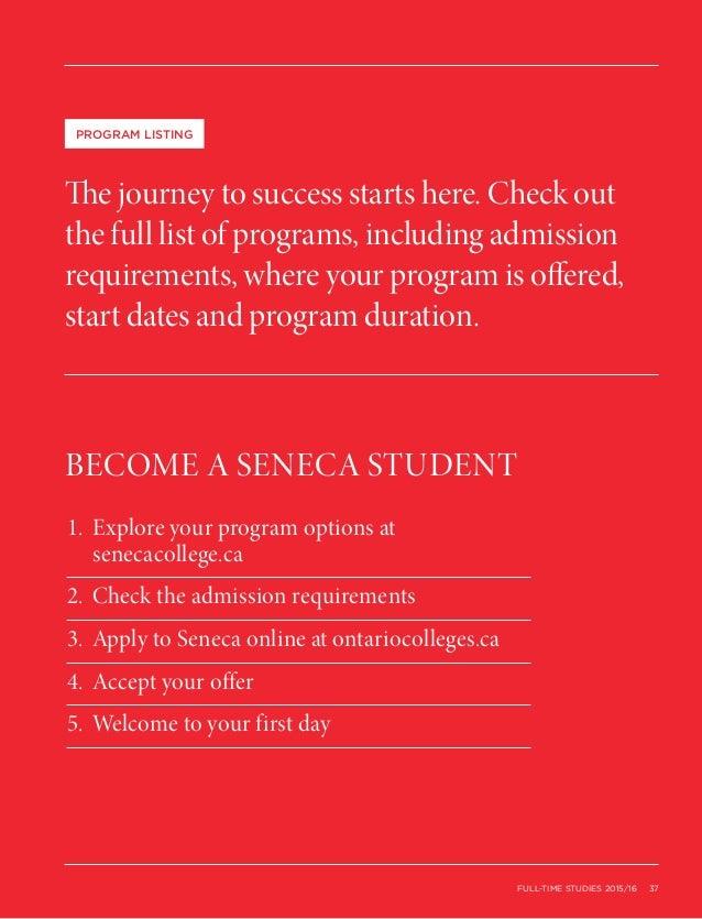 Seneca College Full Time 2015 2016