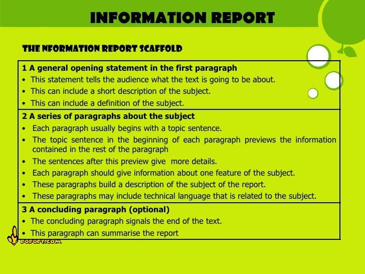 green surrounding report writing