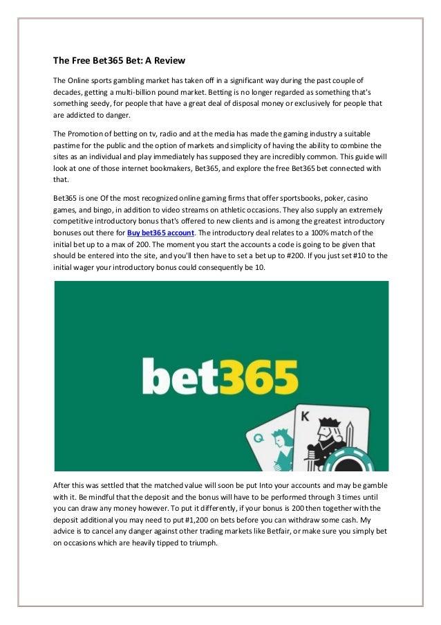 Full verified bet365 account